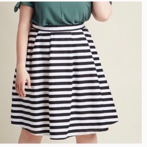 ModCloth Stripped Midi Skirt